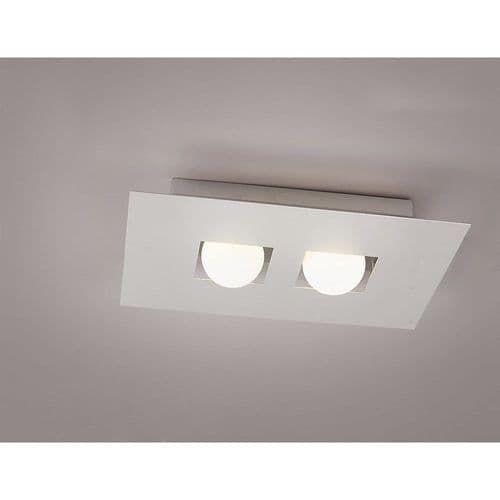 Mantra M0127 Cocoon Ceiling 2 Lights Silver